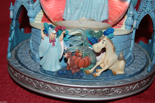 File:Disney Cinderella Snowglobe This is Love Musical Light Up Slipper Rare.jpg