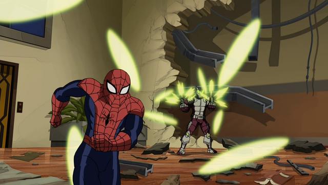 File:Beetle attacking Spider-Man USM.png