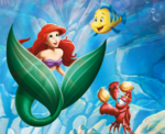 Ariel Sebastian and Flounder Poster