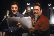 Nathan Lane Ernie Sabella behind the scenes of TLK