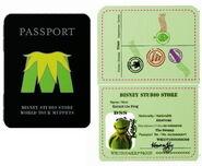 Passport pin kermit