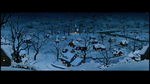 Snowy night in Lady and the Tramp