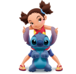 Yuna Kamihara with Stitch
