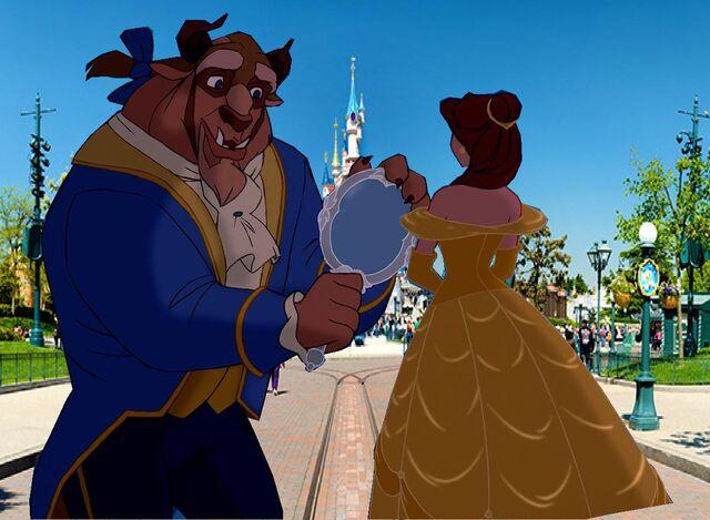 File:Belle and Beast Goes to Disneyland Paris Pictures 01.jpg