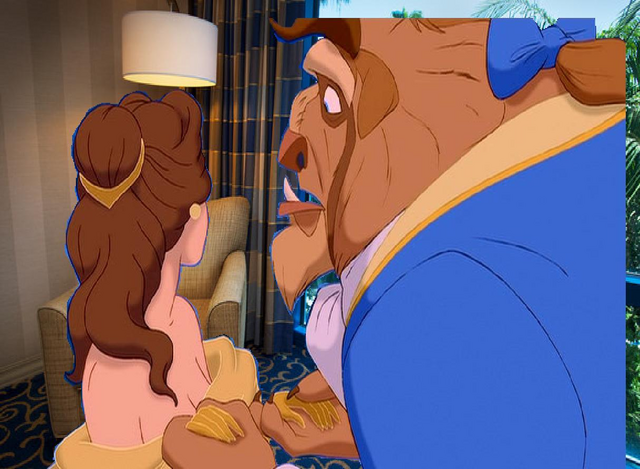 File:Belle is look there at the Beast in the Disneyland Hotel Room.PNG