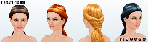 BotanicalBeautySpin - Elegant Flora Hair