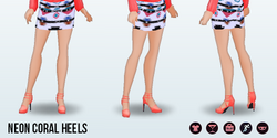 Neon - Neon Coral Heels