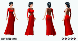 FemmeFatale - Lady in Red Gown