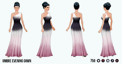 OdeToVersace - Ombre Evening Gown