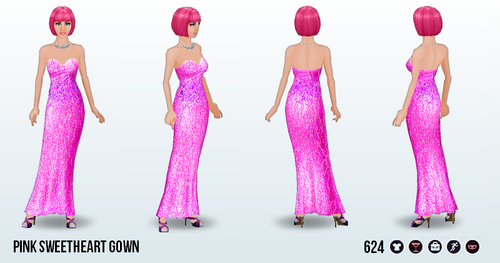 PinkDay - Pink Sweetheart Gown