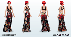 CafeRaffle - Fall Floral Dress