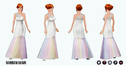 PrettyInPastel - Rainbow Gown