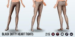 IHeartAccessoriesSpin - Black Dotty Heart Tights