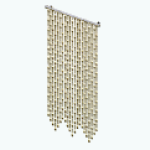 MoulinRougeDecor - Gold Beaded Curtain