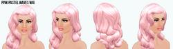 BeMyValentine - Pink Pastel Waves Wig