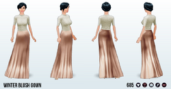 FrostyNightSpin - Winter Blush Gown
