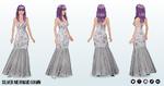 FashionExhibition - Silver Mermaid Gown