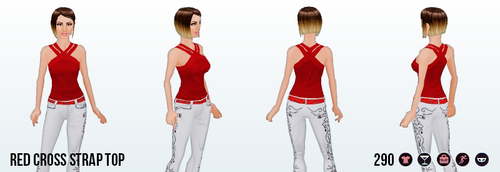 CanadaDay - Red Cross Strap Top