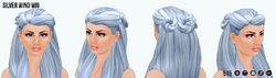 Elements - Silver Wind Wig
