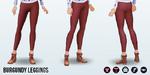 SweaterParty - Burgundy Leggings