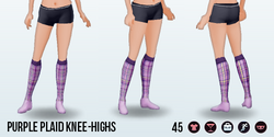 EdieO - Purple Plaid Knee-Highs