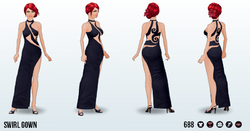 OdeToVersace - Swirl Gown