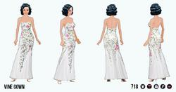 FloraAndFaunaSpreeSpin - Vine Gown