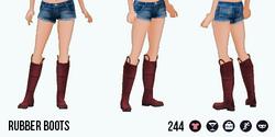 VineyardHarvestSpin - Rubber Boots red