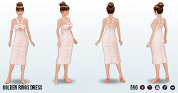 PowderedPink - Golden Rings Dress