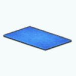 CafeRaffle - Flokati Blue Rug
