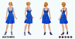 OdeToOscar - Blue Tea Dress