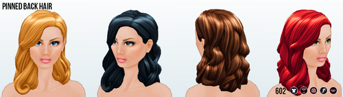 FrostyNightSpin - Pinned Back Hair