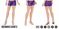 ModernStorybook - Mermaid Shorts purple