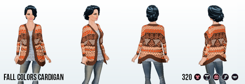 Thanksgiving - Fall Colors Cardigan