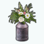 CountryGirlLifeSpin - Milk Can Wildflowers