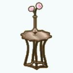 ElegantDiningDecor - Golden Side Table
