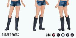 VineyardHarvestSpin - Rubber Boots black