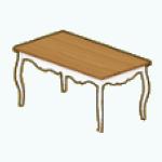 EnglishRoseSpin - Cottage Dining Table white