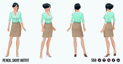 CitySophisticate - Pencil Skirt Outfit brown