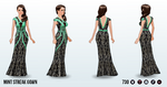 DumbQuestionWeek - Mint Streak Gown
