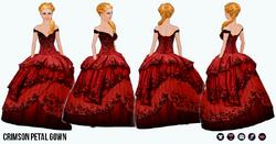 TheVault - Crimson Petal Gown