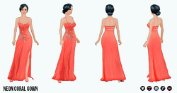 Neon - Neon Coral Gown