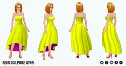 Neon - Neon Sculpture Gown