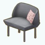 PastelPoetryDecor - Dove Gray Chair