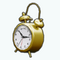 CityLivingDecor - Gold Alarm Clock