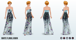 EarthDay - White Floral Gown