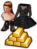 GoldDeal - 160211 - Resort Dress - Chantilly Lace Sandals - Hair