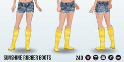 AprilShowers - Sunshine Rubber Boots