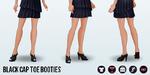 FashionWeek - Black Cap Toe Booties