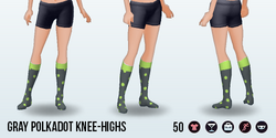 CafeRaffle - Gray Polkadot Knee-Highs